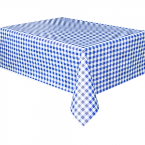 Blue and White Check Squares