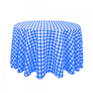 Blue and White Check Rounds